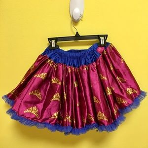 Disney tutu couture skirt girl 7/8 crowns